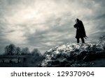 warrior in forgotten place | Shutterstock . vector #129370904