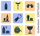 beverages icons set with lunch  ... | Shutterstock .eps vector #1293716320