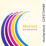 colored stripes with circles... | Shutterstock .eps vector #1293724489
