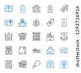 merchandise icons set.... | Shutterstock .eps vector #1293726916