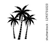 a palm tree vector set. | Shutterstock .eps vector #1293731023