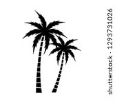 a palm tree vector set. | Shutterstock .eps vector #1293731026