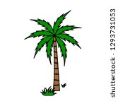 a palm tree vector. | Shutterstock .eps vector #1293731053