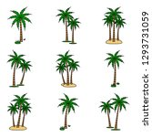 a palm tree vector set. | Shutterstock .eps vector #1293731059