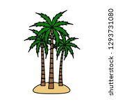 a palm tree vector set. | Shutterstock .eps vector #1293731080