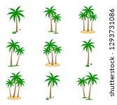 a palm tree vector set. | Shutterstock .eps vector #1293731086