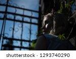 side view frightened girl... | Shutterstock . vector #1293740290