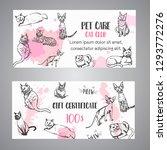 cat breeds gift voucher. follow ...   Shutterstock .eps vector #1293772276