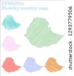 ethiopia sketchy country. fancy ... | Shutterstock .eps vector #1293779506