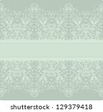 seamless laced floral pattern   Shutterstock .eps vector #129379418