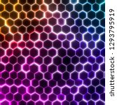 abstract wave form glow light... | Shutterstock . vector #1293795919