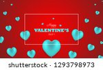valentines day background with... | Shutterstock .eps vector #1293798973