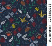 floral embroidery seamless... | Shutterstock .eps vector #1293803116