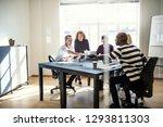 group of diverse designers... | Shutterstock . vector #1293811303