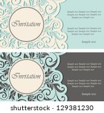 beautiful vintage invitations.... | Shutterstock .eps vector #129381230