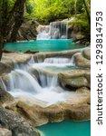erawan waterfall in thailand is ... | Shutterstock . vector #1293814753