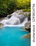 erawan waterfall in thailand is ... | Shutterstock . vector #1293814756