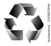 recycle sign isolated on white... | Shutterstock .eps vector #1293825946