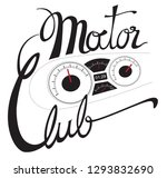 motor club speed   gauge sign... | Shutterstock .eps vector #1293832690