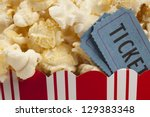 close up of two tickets stubs... | Shutterstock . vector #129383348