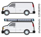a plain white generic work van... | Shutterstock .eps vector #129383993