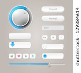 user interface elements ... | Shutterstock .eps vector #129384614