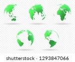earth globes set | Shutterstock .eps vector #1293847066