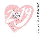 big gentle heart 2019. happy... | Shutterstock .eps vector #1293849403