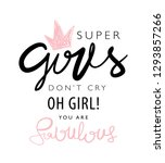 girl power concept... | Shutterstock .eps vector #1293857266