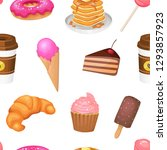 candies  sweets  seamless... | Shutterstock .eps vector #1293857923