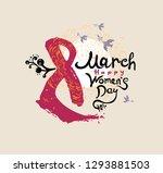 happy women's day. 8 march.... | Shutterstock .eps vector #1293881503