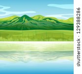 illustration of a mountain... | Shutterstock .eps vector #129388286