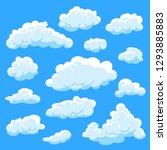 set of different shape cartoon... | Shutterstock .eps vector #1293885883
