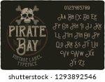 vintage label typeface named... | Shutterstock .eps vector #1293892546
