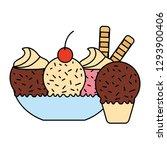 ice cream cone popsicle | Shutterstock .eps vector #1293900406