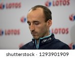 Small photo of Czestochowa/Poland- 28 December 2018: press conference of Lotos Group S.A. with driver Robert Kubica and vice-chairman management of Lotos Group S.A. Jaroslaw Wittstock