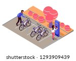 bicycle parking in park near... | Shutterstock .eps vector #1293909439