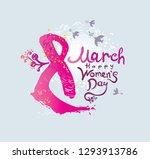 happy women's day. 8 march.... | Shutterstock .eps vector #1293913786