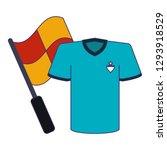 soccer game sport blue lines | Shutterstock .eps vector #1293918529