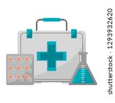 medical and healthcare elements | Shutterstock .eps vector #1293932620