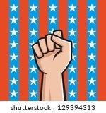 vector illustration of a raised ...