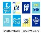 love vector hand lettering... | Shutterstock .eps vector #1293957379