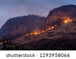forest fire on mountains at... | Shutterstock . vector #1293958066