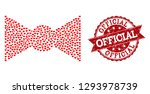 mosaic bow tie formed with red... | Shutterstock .eps vector #1293978739