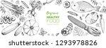 healthy food frame vector... | Shutterstock .eps vector #1293978826