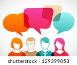 people icons with colorful... | Shutterstock .eps vector #129399053
