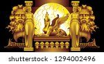 fantasy on ancient greek myths | Shutterstock .eps vector #1294002496