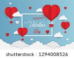 concept of valentine's day  art ... | Shutterstock .eps vector #1294008526