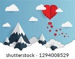 concept of valentine's day  art ... | Shutterstock .eps vector #1294008529