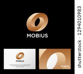 mobius logo. impossible gold...